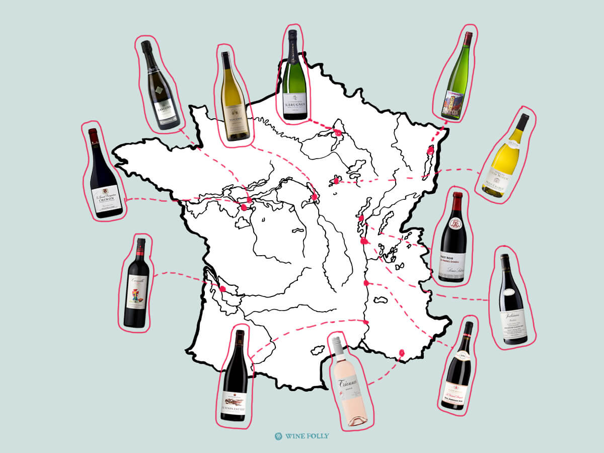 French Wines Discover 12-pack Map
