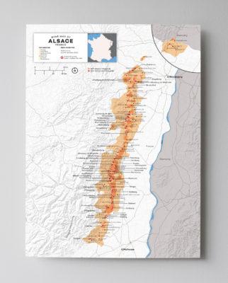 Alsace Grand Cru Wine map by Wine Folly