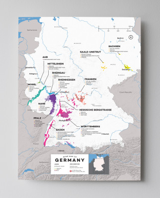 12x16 Germany wine map by Wine Folly