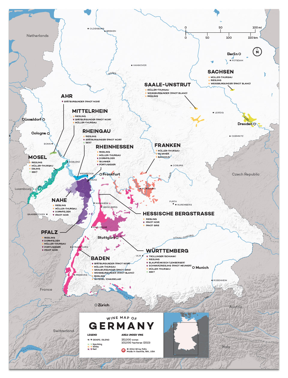 Germany wine regions map by Wine Folly