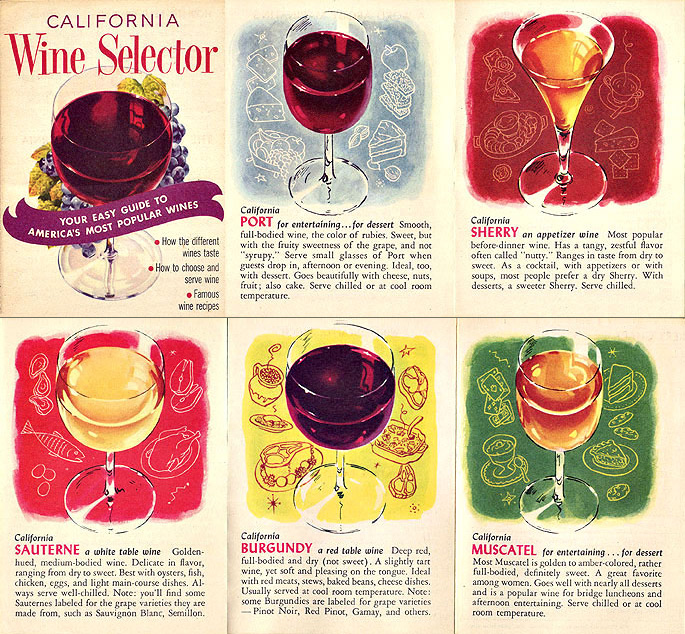 1960s California wine ad