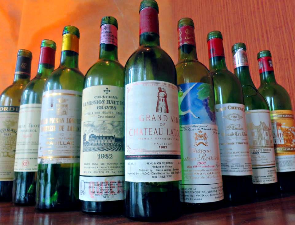 1982 Bordeaux Premier Cru Chateau Latour and Mouton and Grand Cru St Emilion