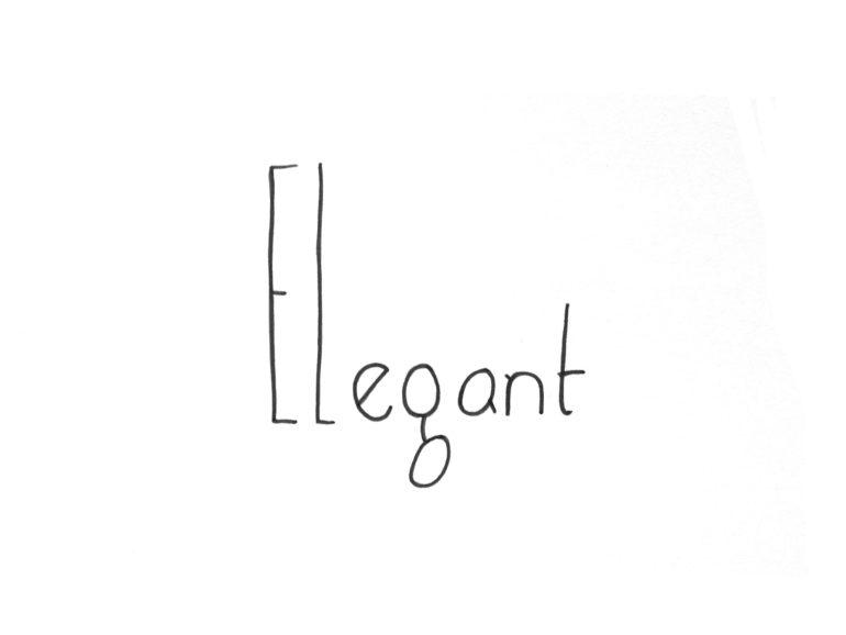 elegant text hand illustration