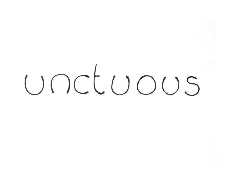 Unctuous text illustration