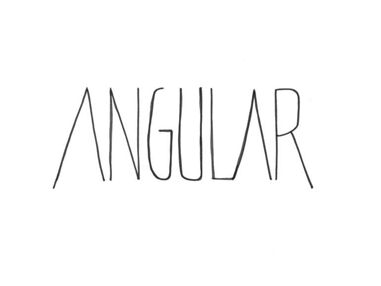 Angular Typography hand illustration
