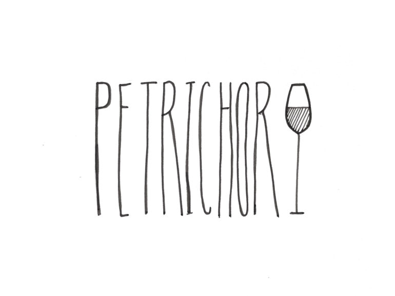Petrichor typography hand illustration