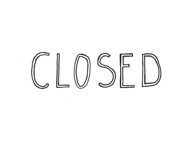 Closed text illustration