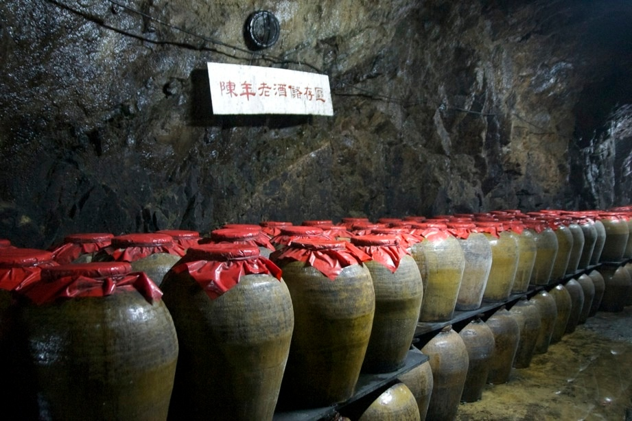 Traditional Shaoxing Containers for aging Chinese rice wine