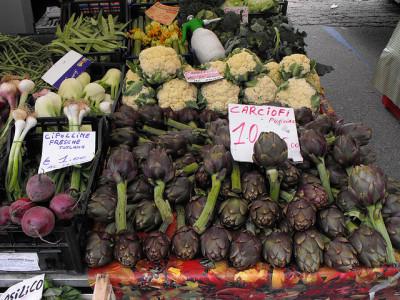 A street market in Rome