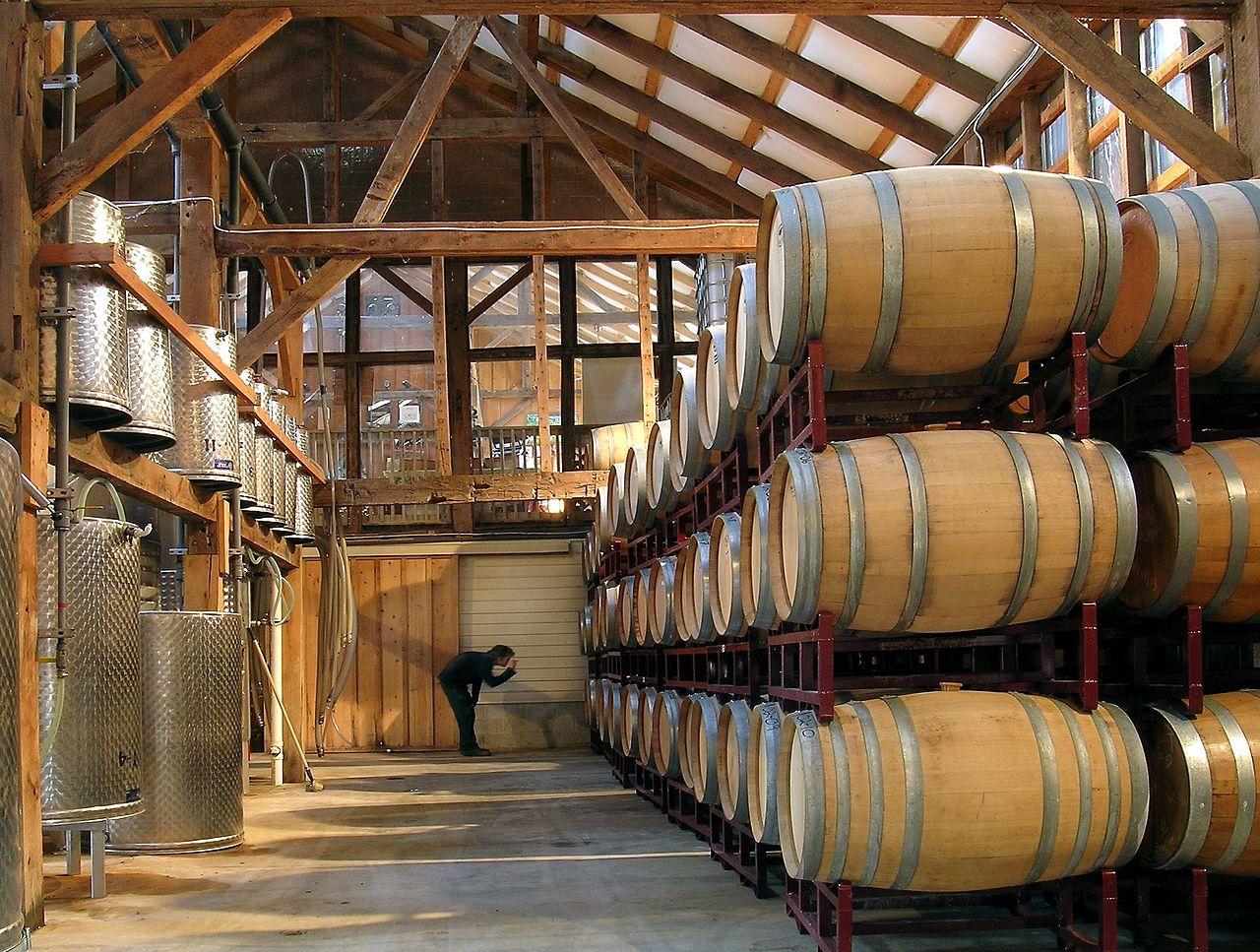 Unionville Vineyards Barrel Room