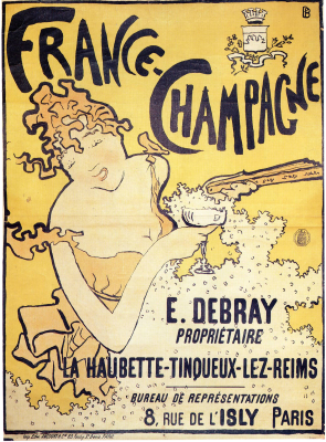 Champagne Poster from the 1890s