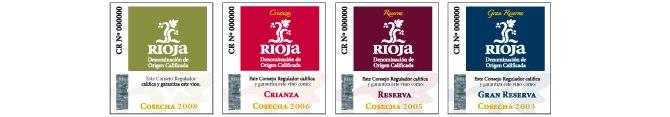 Rioja-Weinklassifizierungen vom Consejo DOCa