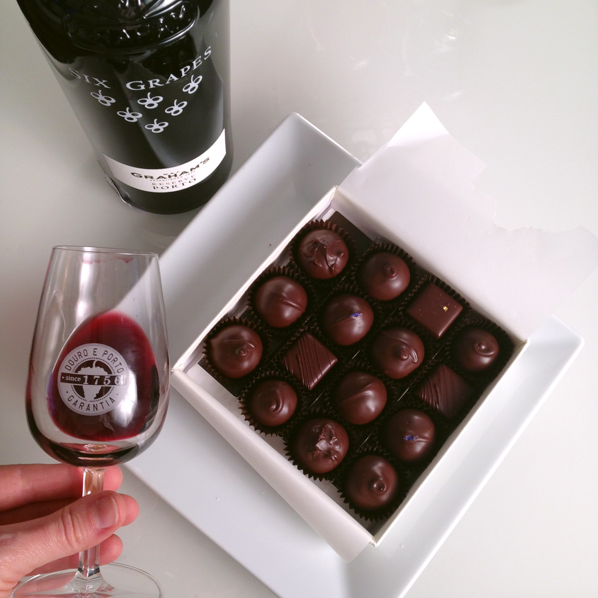 Port and Dark Chocolate Truffle Pairing