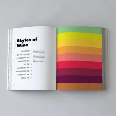 9 styles of wine color coated book design
