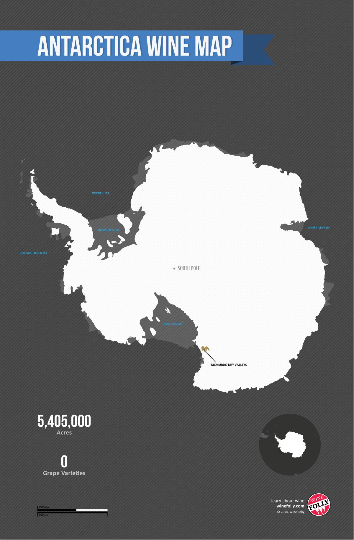 Antarctica Wine Map