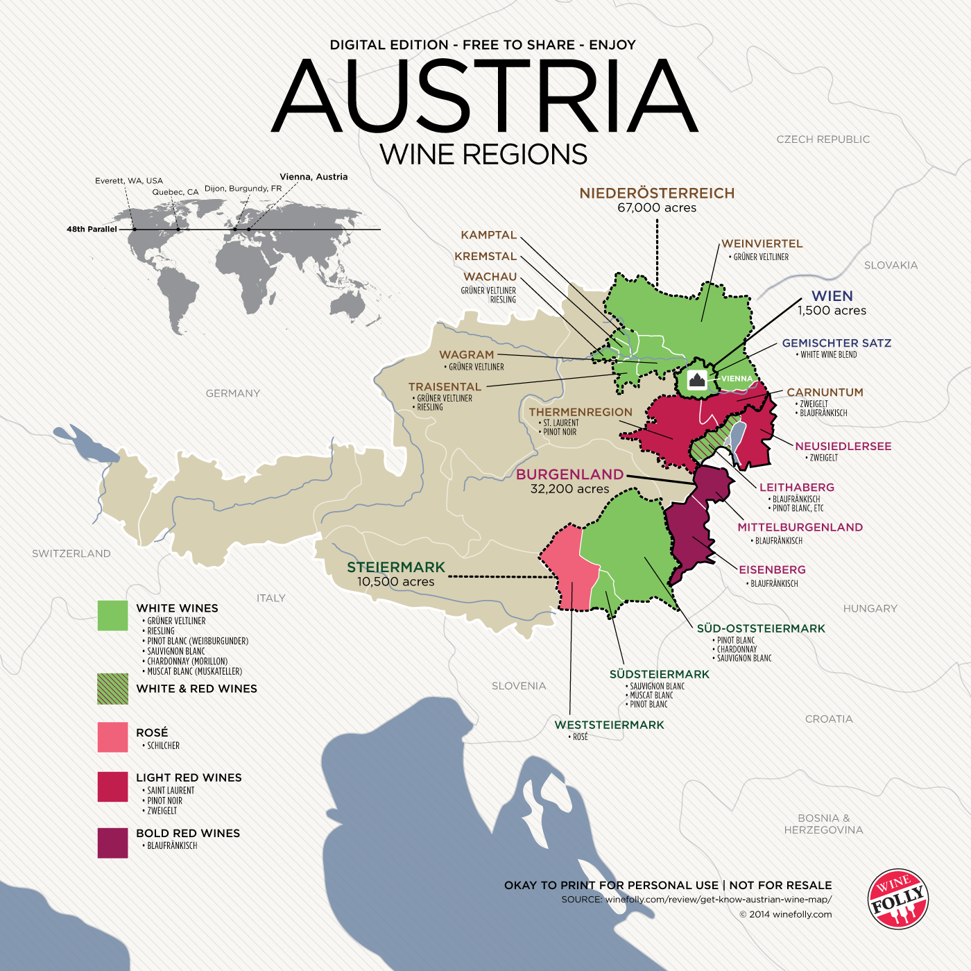 Get to Know Austrian Wine (with Map) | Wine Folly