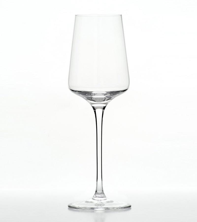 Set of 6 Austrian 12.85 ounce crystal white wine glasses