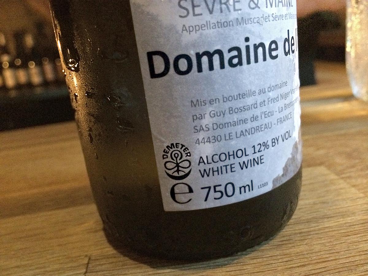 Biodynamic-Wine-Demeter-Muscadet-Loire-Guy-Bossard-lEcu