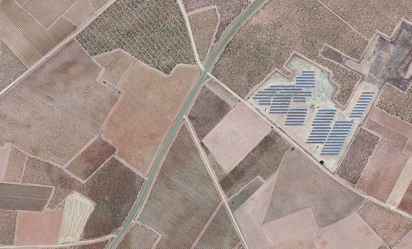 Bird's Eye View of Rueda Wine Region taken from Bing Maps