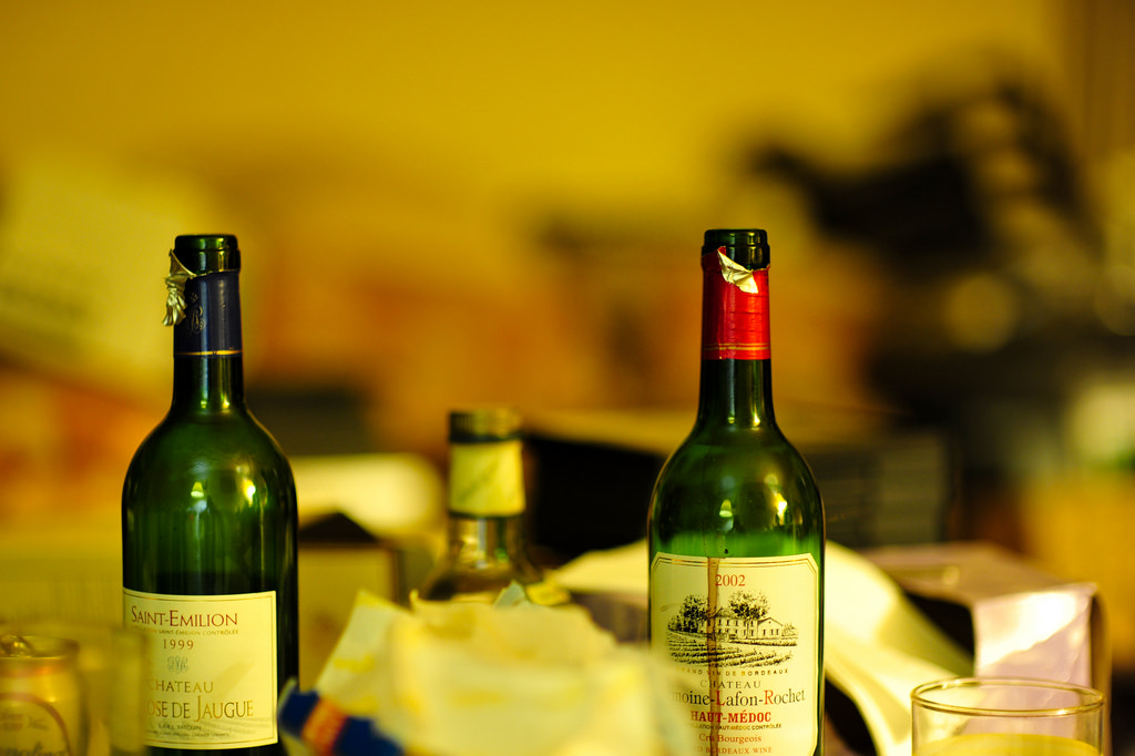 Saint-Emilion and Bordeaux Bottles from 1999 and 2002