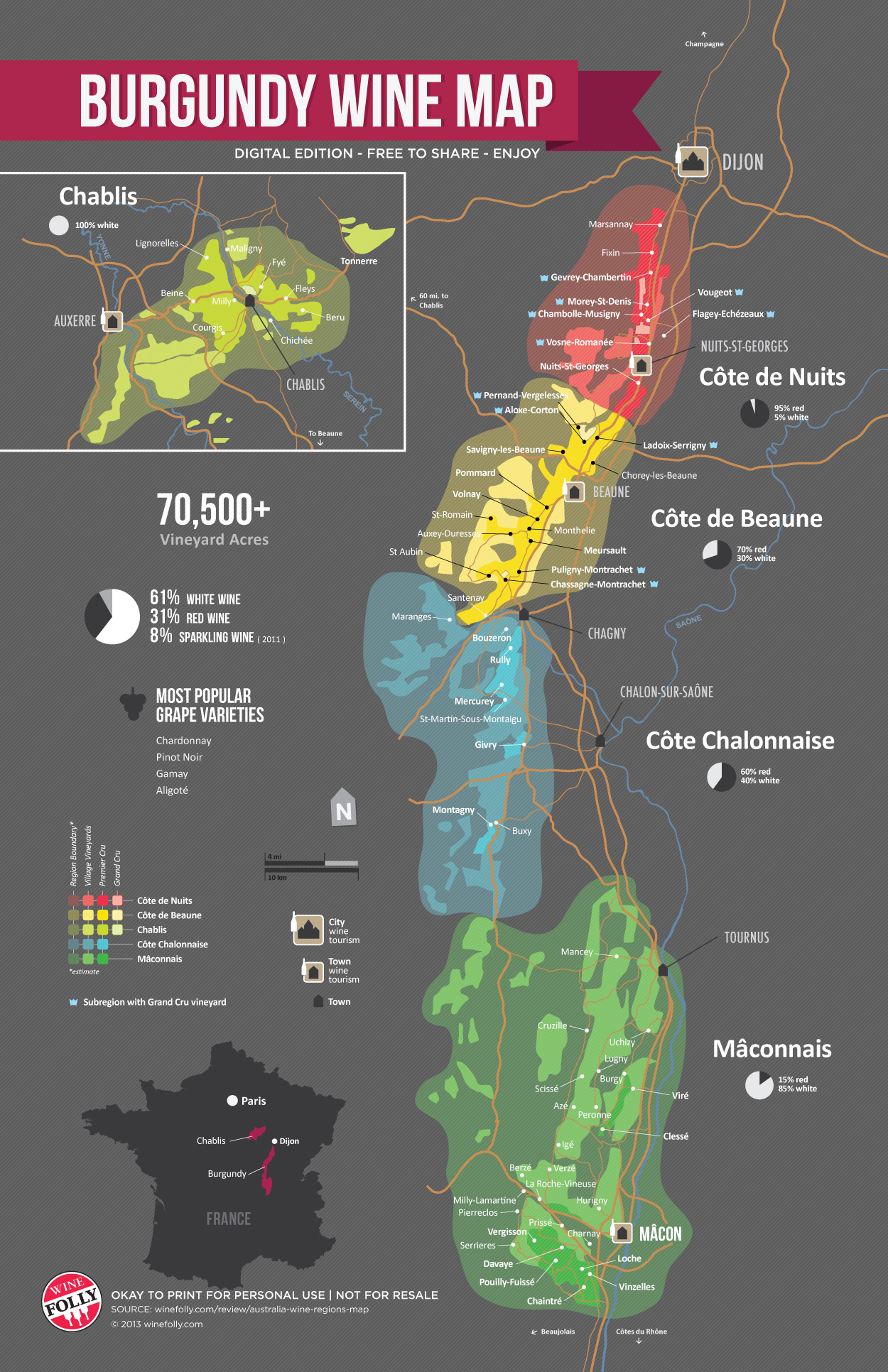 A Simple Guide to Burgundy Wine (with Maps) | Wine Folly