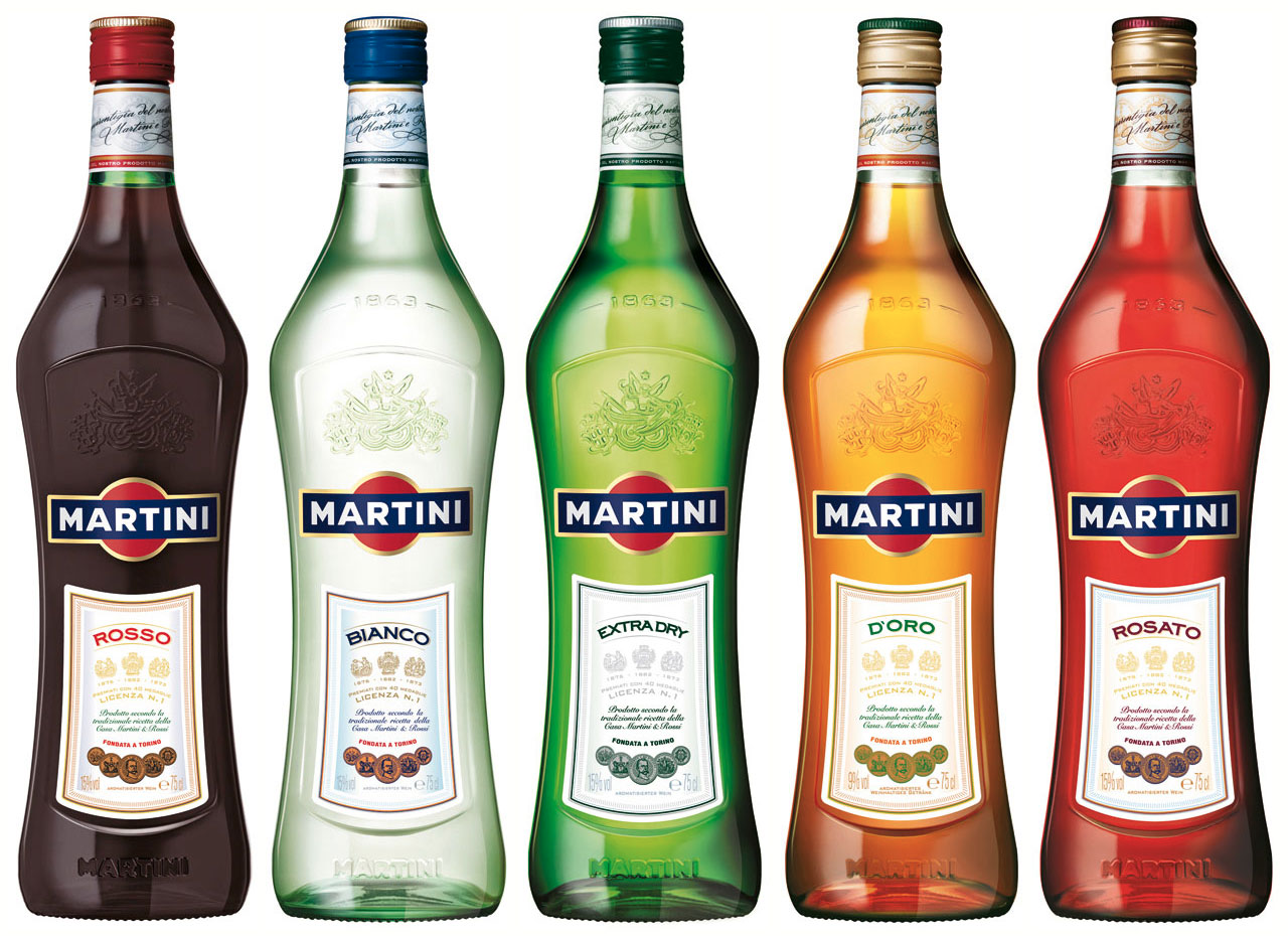 Martini and Rossi Five Styles of Vermouth