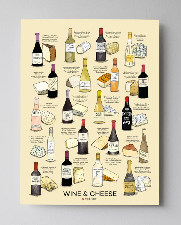 Wine and Cheese Poster (18x24) by Wine Folly