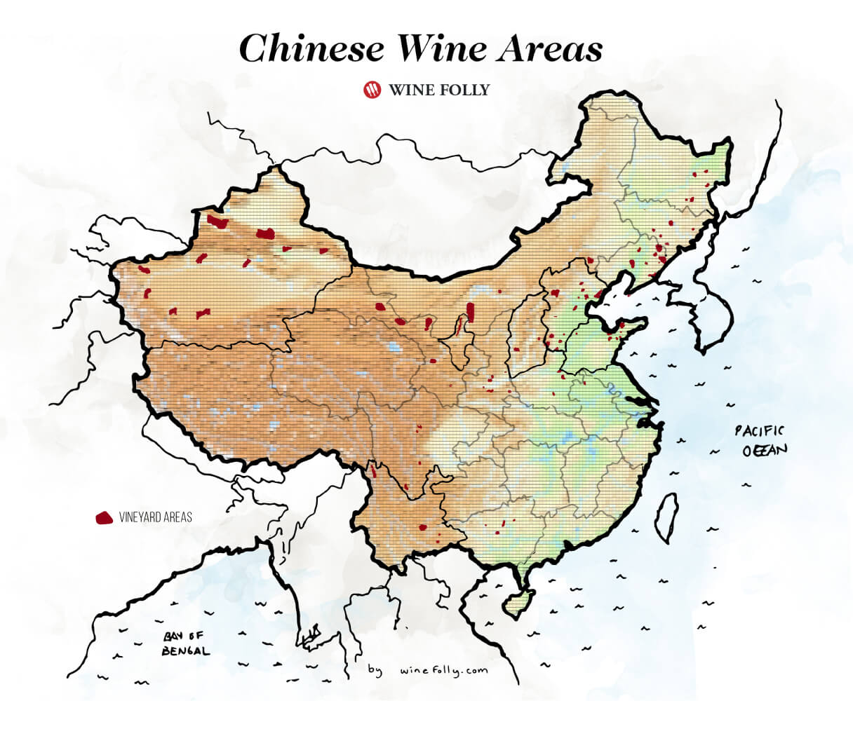 Chinese Wine Map by Wine Folly 2019