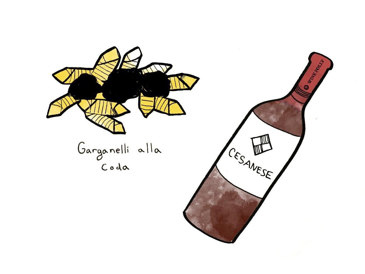 Coda-alla-Vaccinara-wine-pairing-cesanese