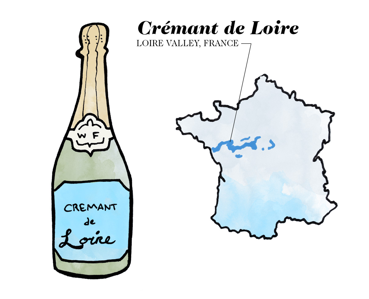 Crémant de Limoux wine illustration by Wine Folly