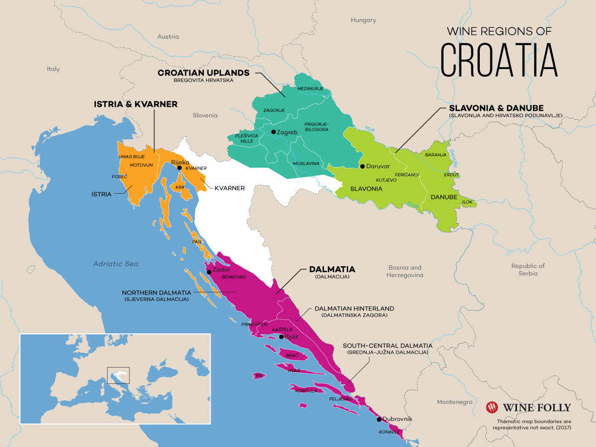 Introduction To Croatian Wines | Wine Folly