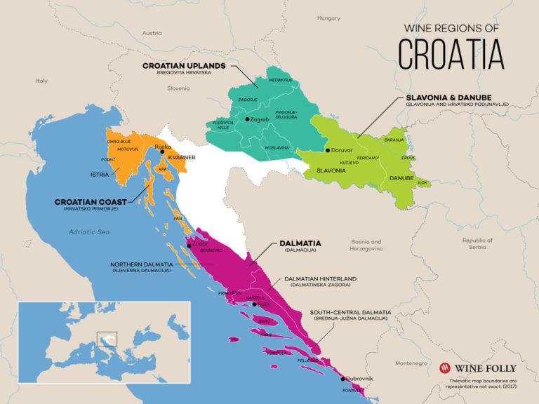 Wine map of Croatia by Wine Folly