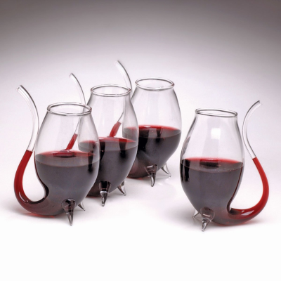 Sippy Straw Wine Glasses