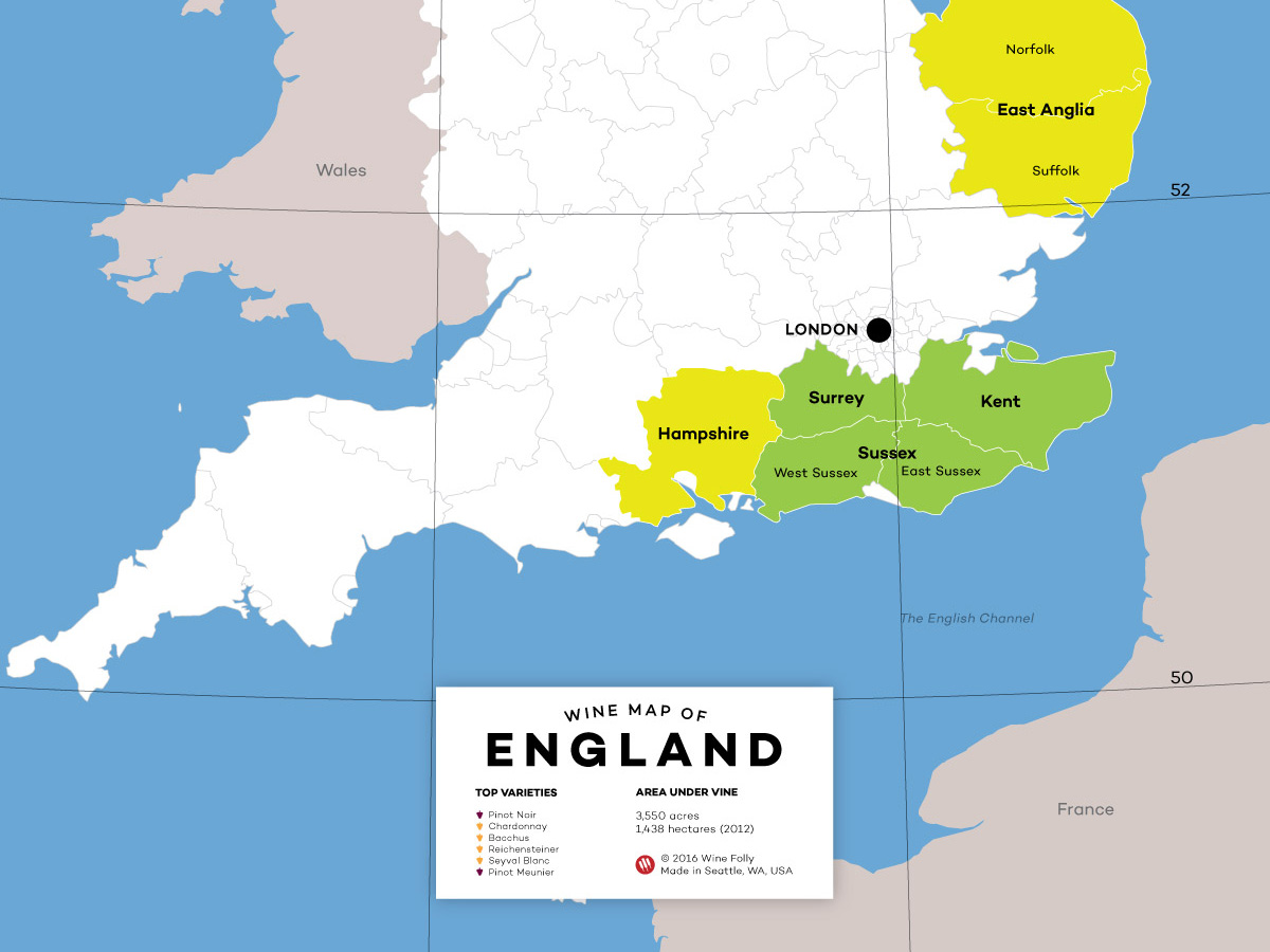 England On Map Of World.All About English Wine Wine Folly