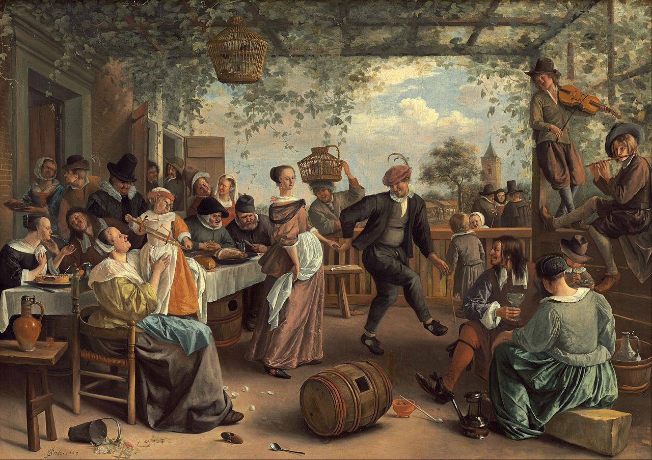 The Dancing Couple by Jan Havickszoon Steen 1663