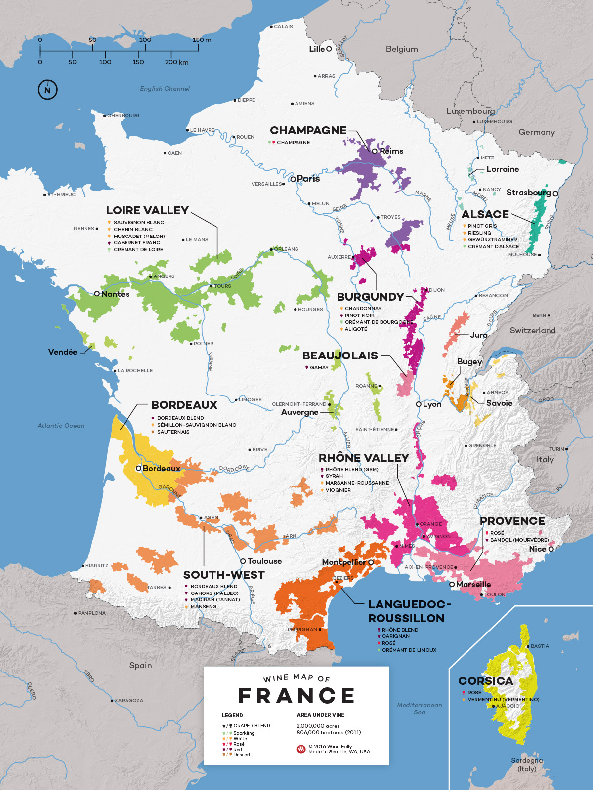 Map Of France Wine Regions French Wine Exploration Map | Wine Folly