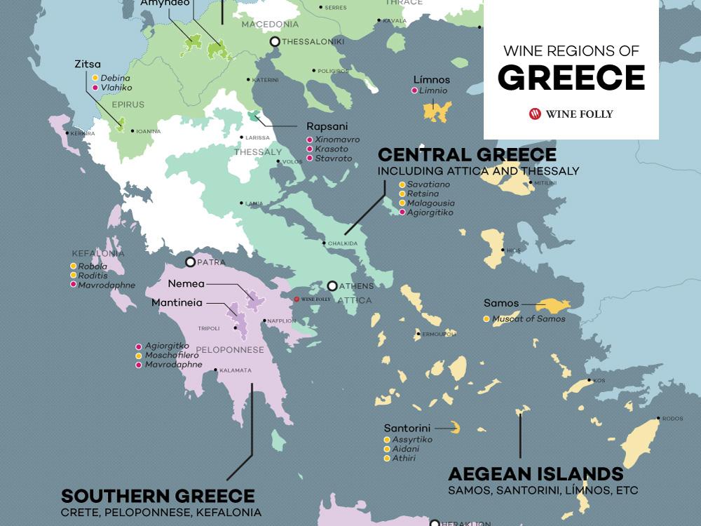 The Wine Regions of Greece (Maps) | Wine Folly