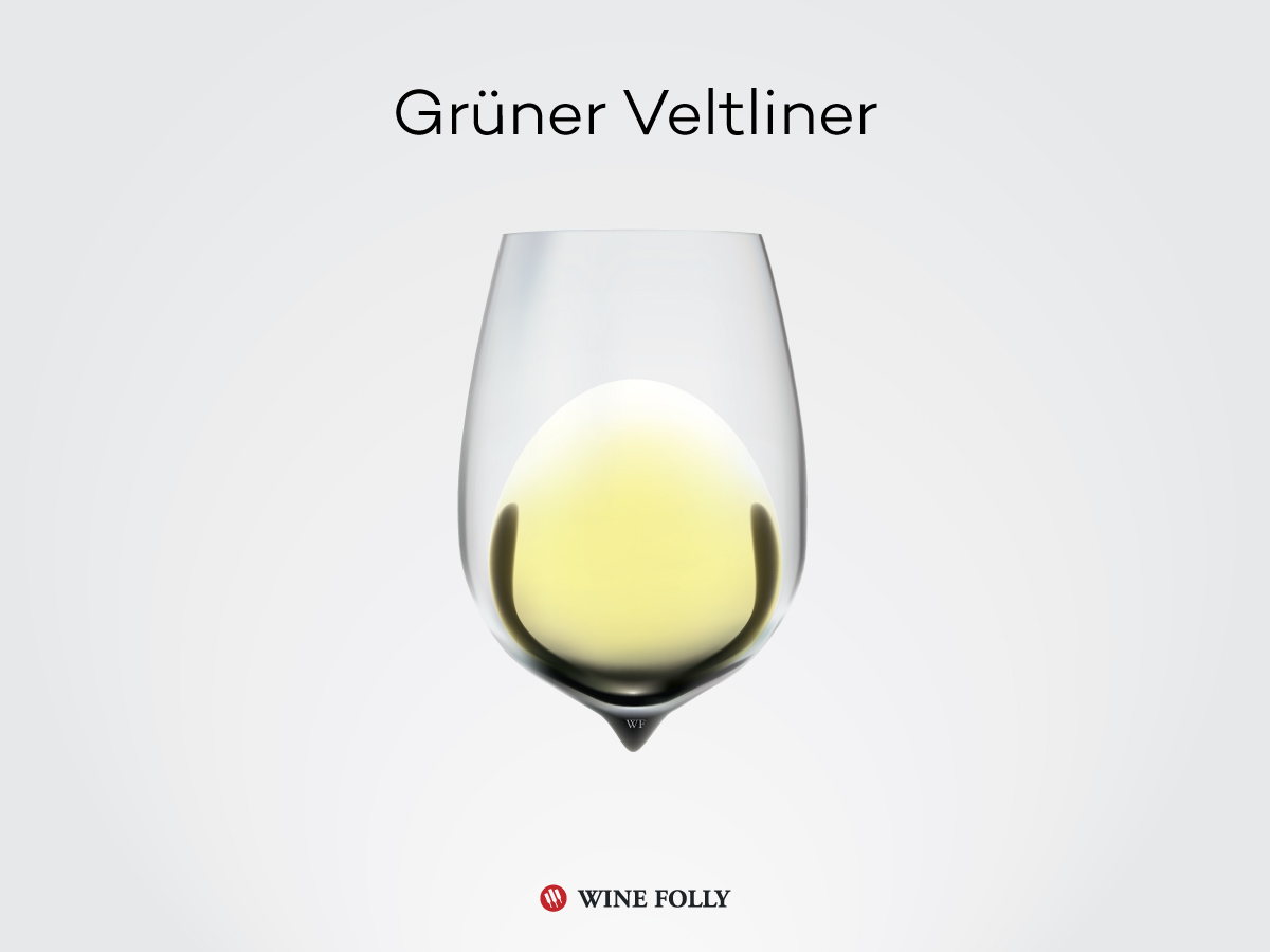 A glass of Grüner-Veltliner wine