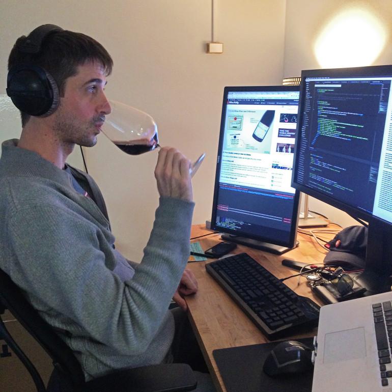Justin Hammack developer of Wine Folly
