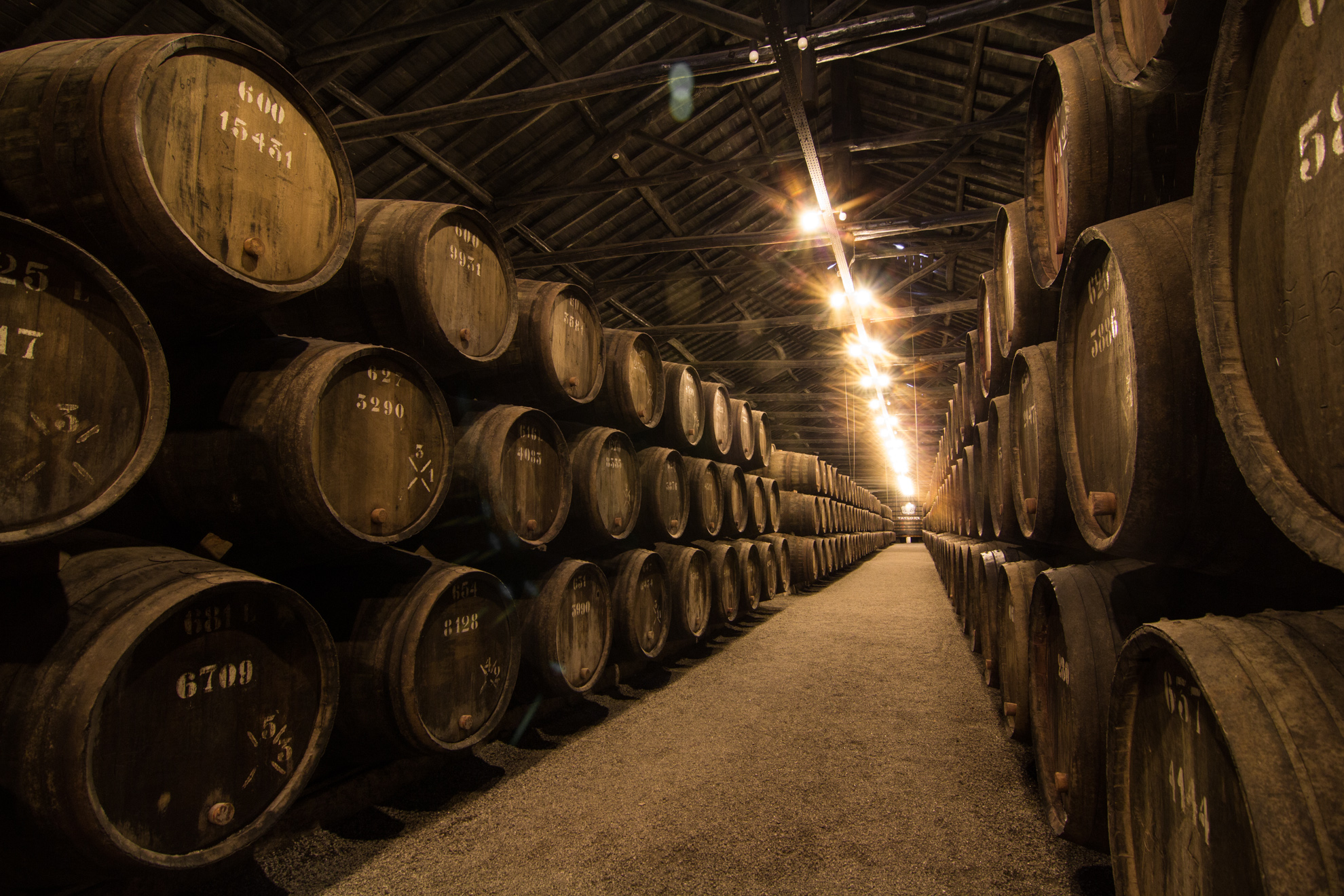 Tawny Port Barrels at Taylors in Porto