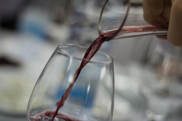 Decanting Red Wine in Portugal