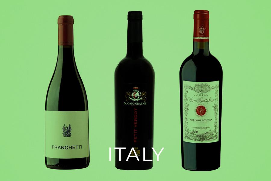 Examples of Italy Italian Petit Verdot Wines