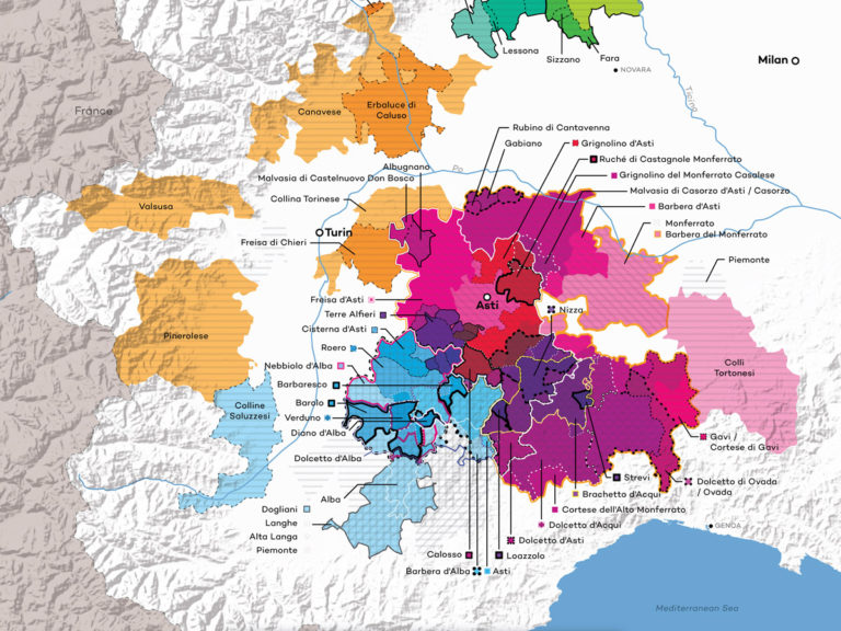 Italy-Piedmont-Wine-Map Excerpt by Wine Folly