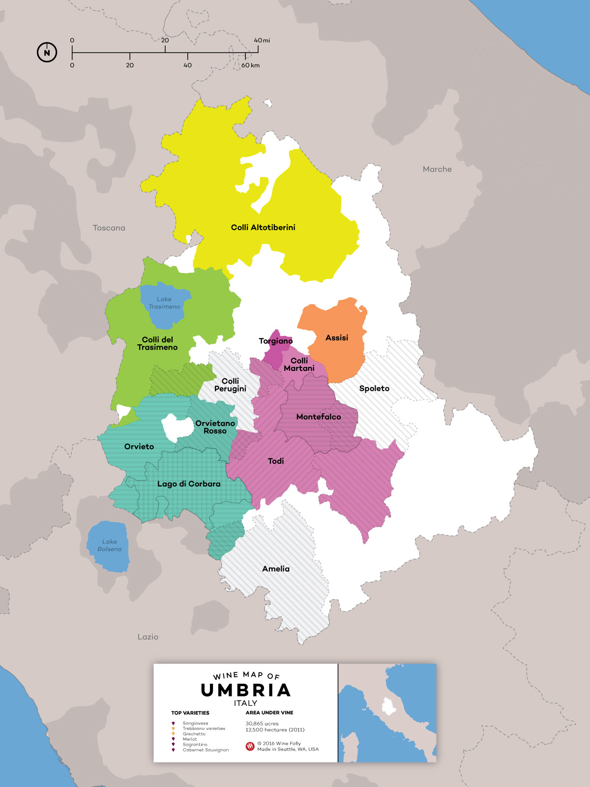 Map Of Italy Simple.A Simple Guide To Wines Of Umbria Wine Folly