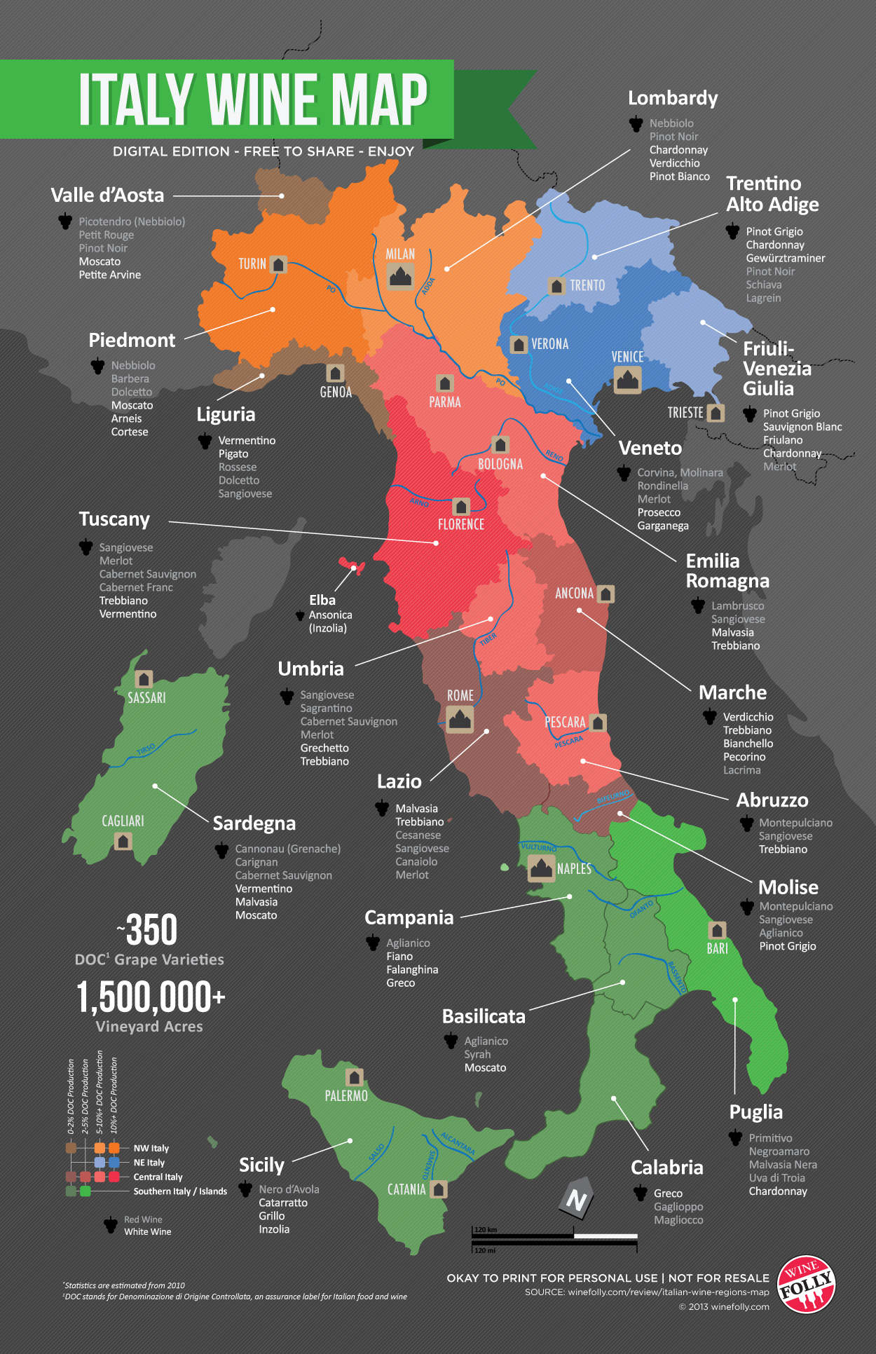 Map of Italian Wine Regions | Wine Folly