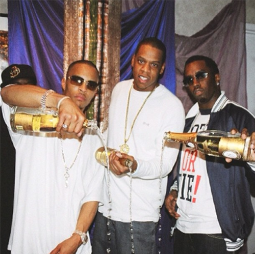 Jay-Z, Diddy and TI pour out Cristal
