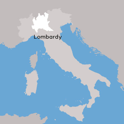 Lombardy wine region map by Wine Folly