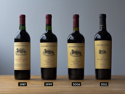 Duckhorn 1987, 1999, 2006 and 2011 vintages of Three Palms Merlot by Wine Folly