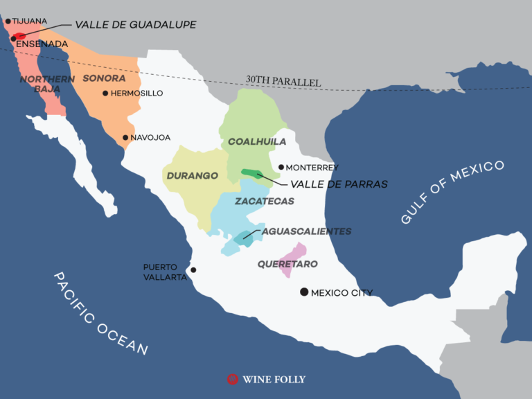Mexico Wine Map Wine Folly