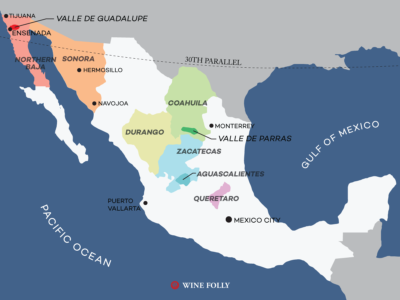 Wine Regions of Mexico (map) by Wine Folly